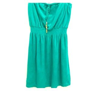 NWOT Juicy Couture Green Dress/Cover Up (Medium)